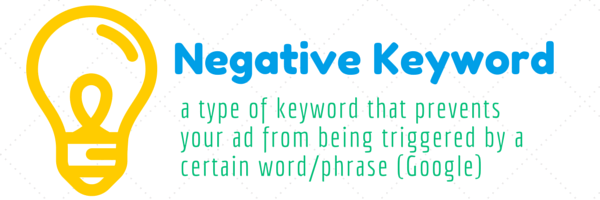 negative keyword