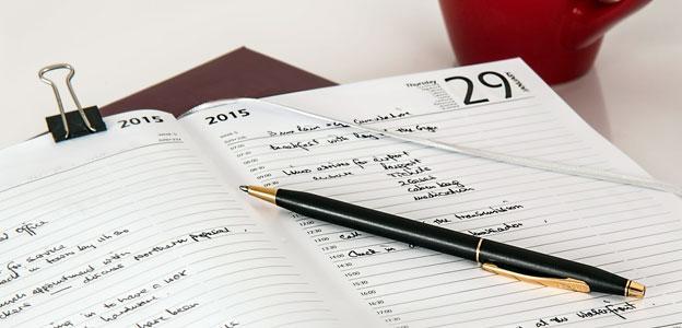 Follow a content calendar
