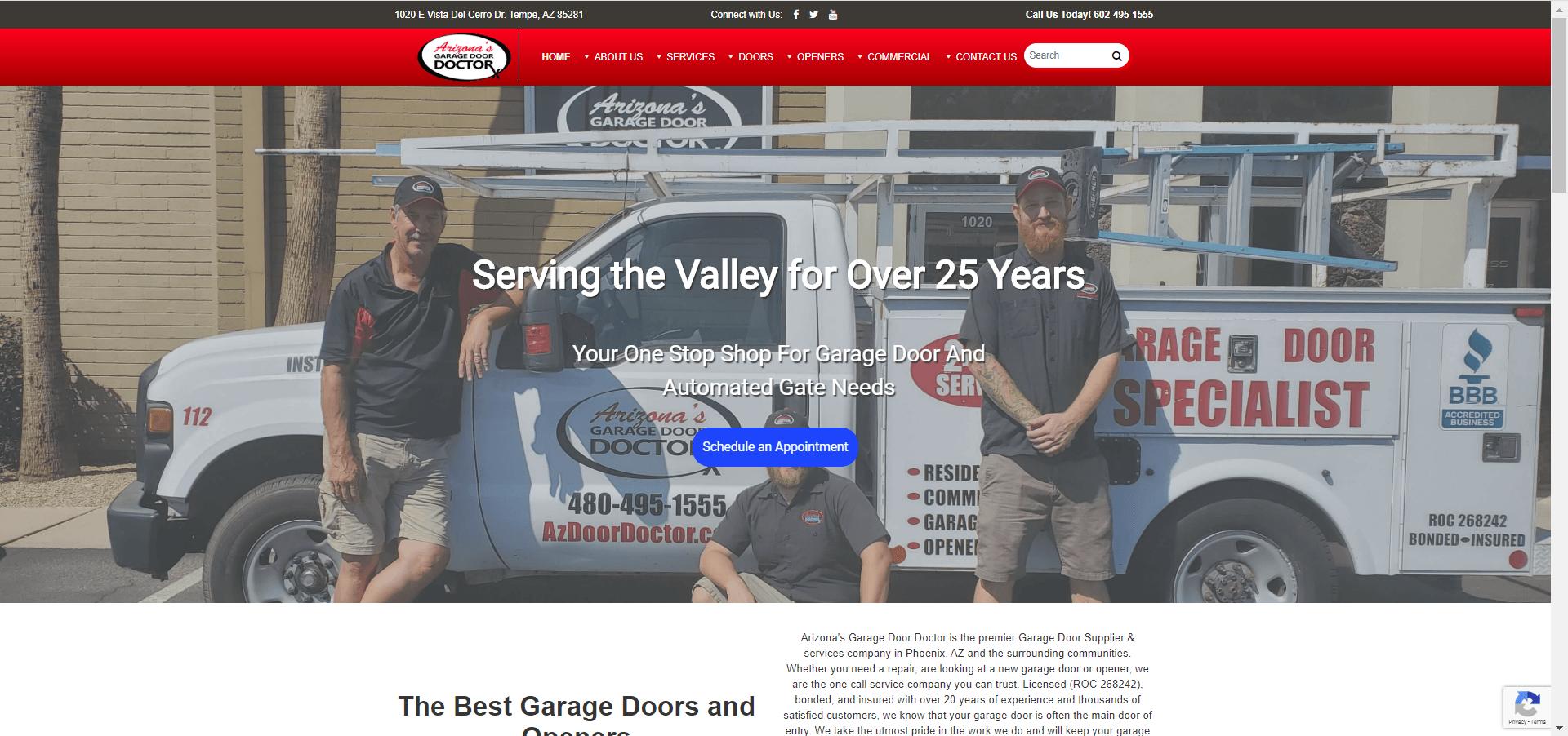 PrimeView Opens New Doors for Arizona's Garage Door Doctors with Redesigned Website