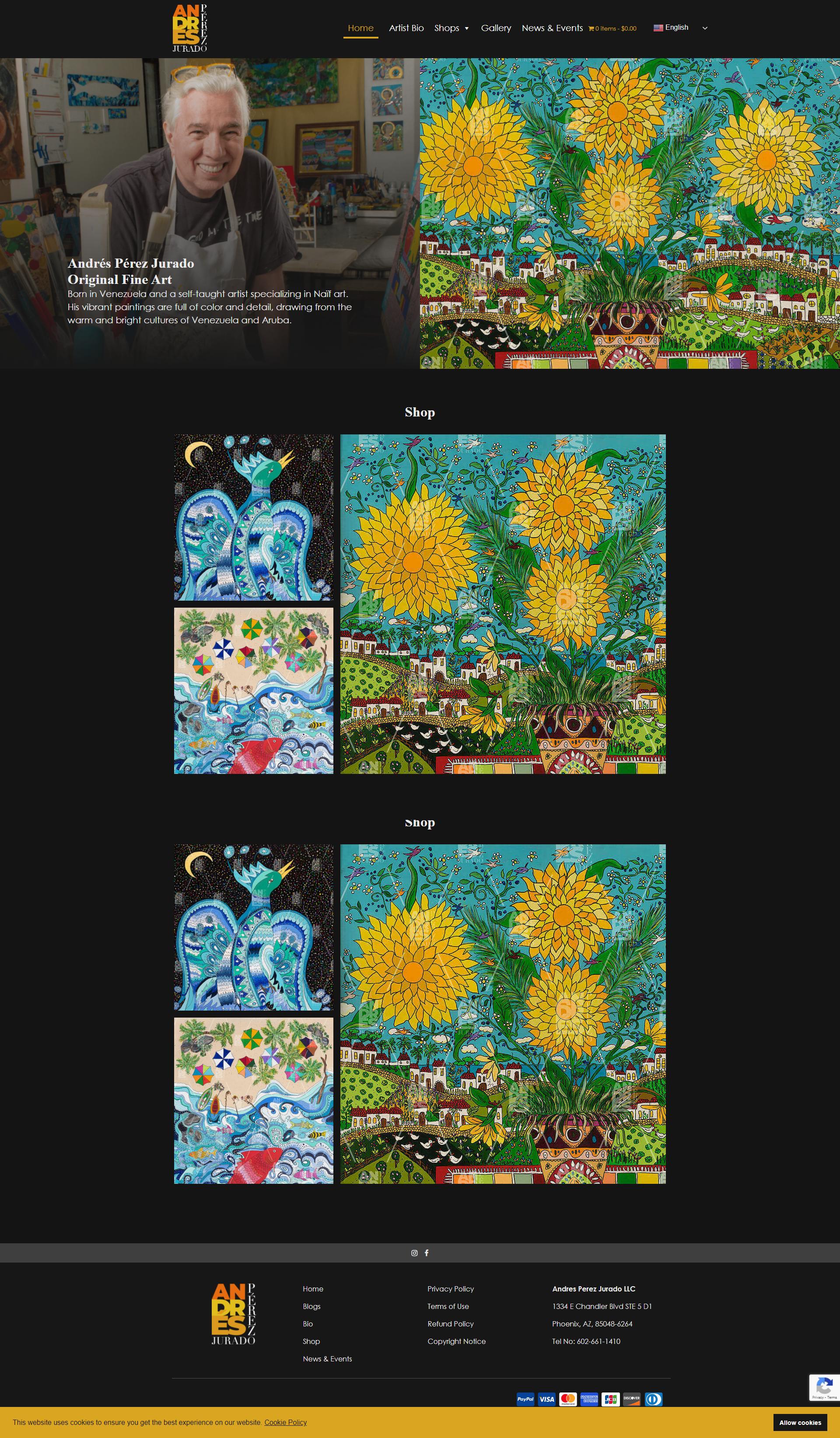 PrimeView Launches Naïf Artist Andrés Pérez Jurado Website