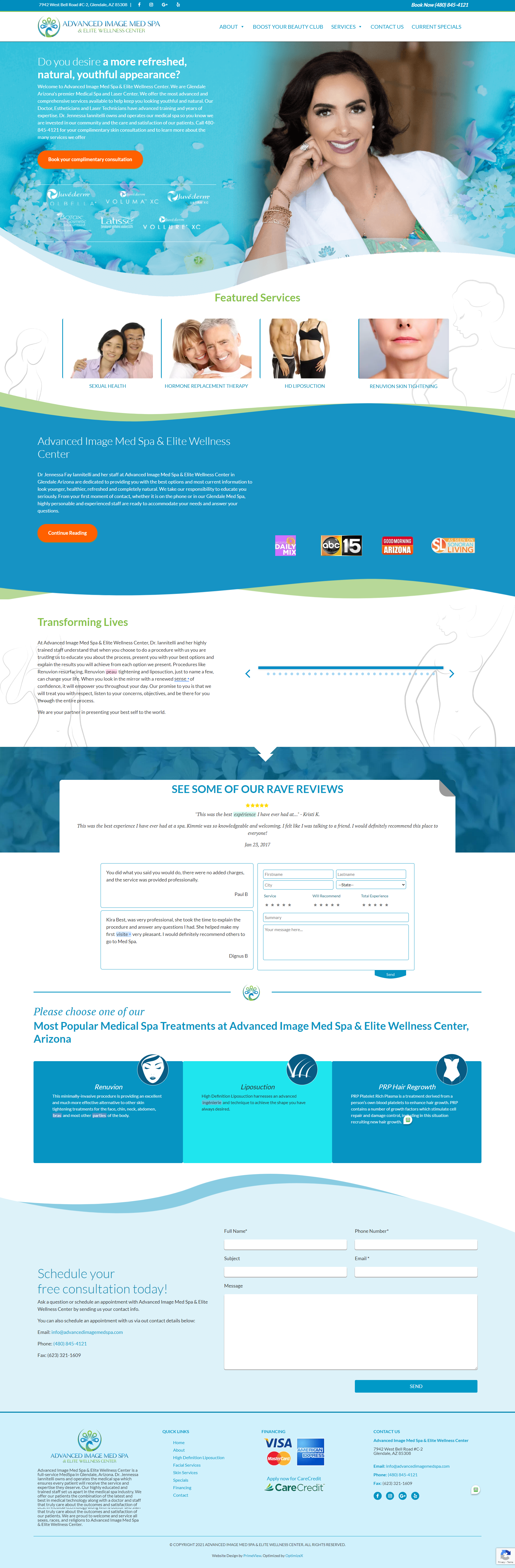 Advanced Image Med Spa Gets New Skin With Website Redesign