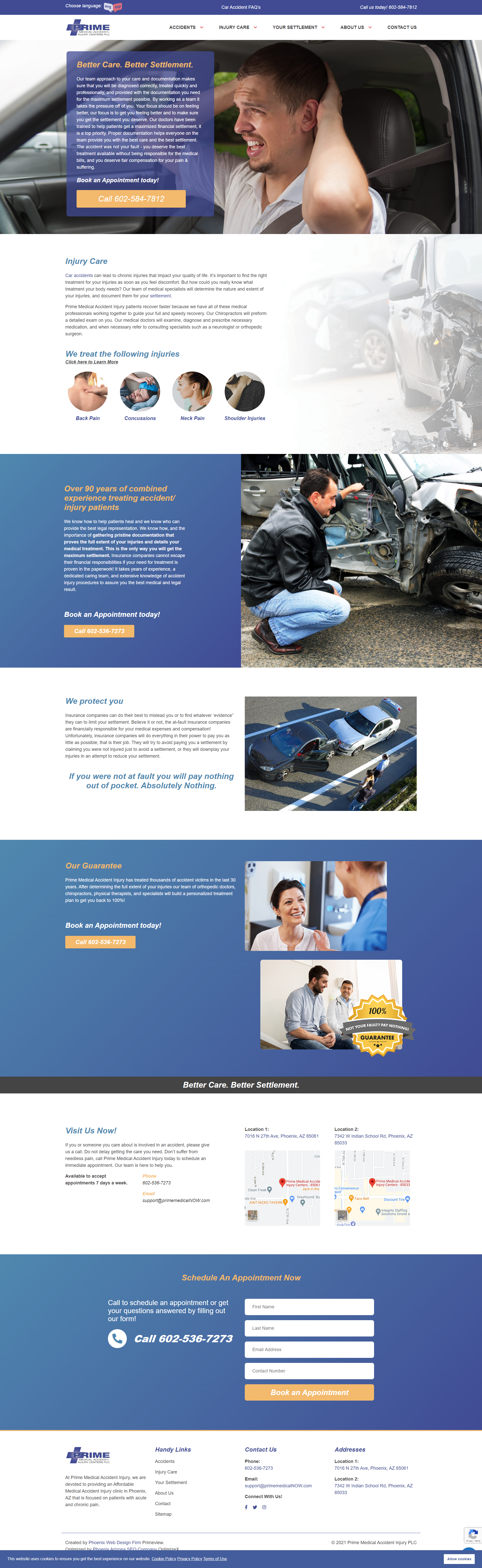 PrimeView Launches New Prime Medical Accident Injury Website