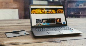 Laptop With Landing Page