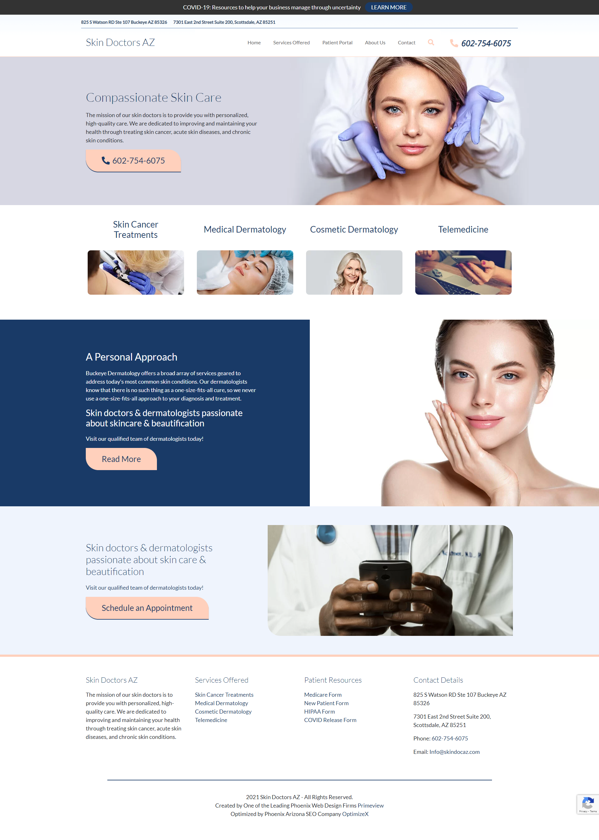 PrimeView Launches New Scottsdale Dermatology Website