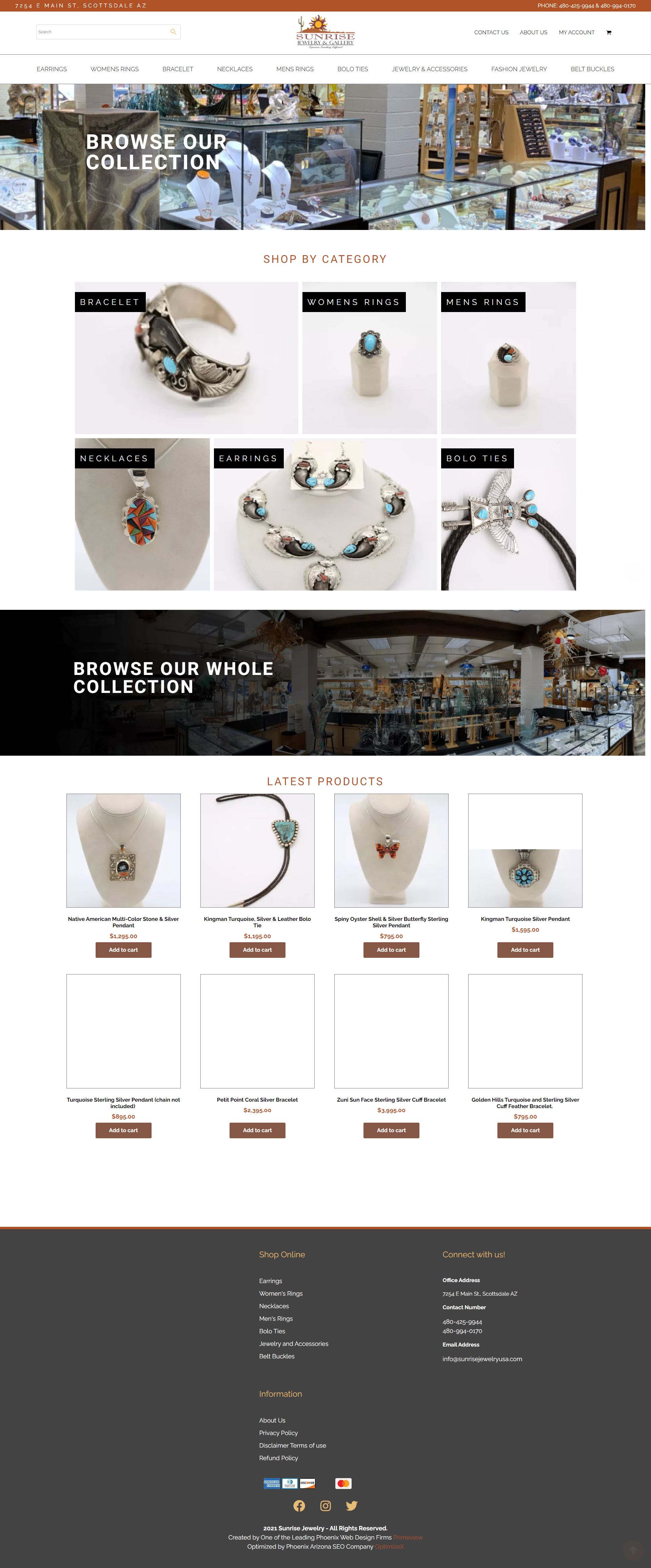 Sunrise Jewelry & Gallery Advances to Online Sales with WooCommerce